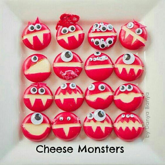 Halloween food   Cheese Monsters   Beanstalk Mums
