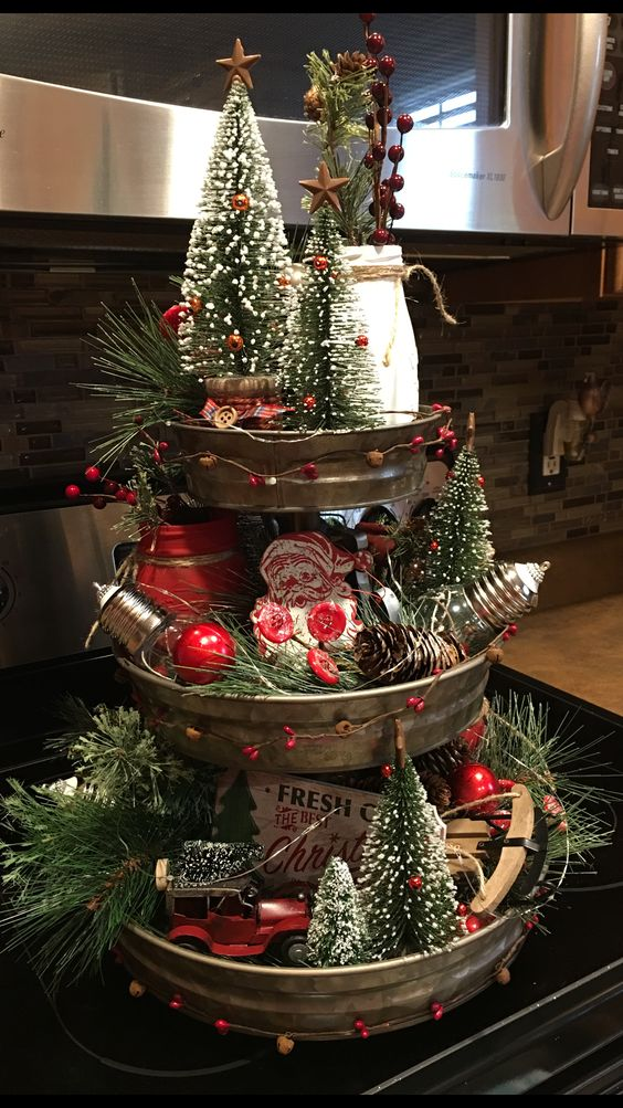 3 Tier Christmas Tray