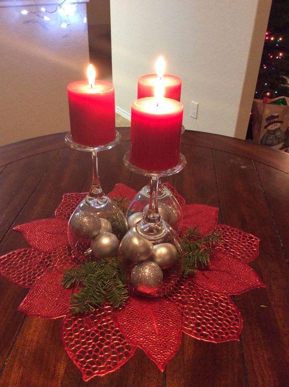 Easy Diy Christmas Table Decorations Ideas Party Wowzy