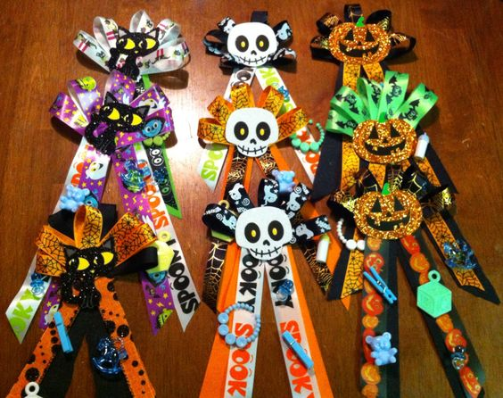 Halloween baby shower corsages