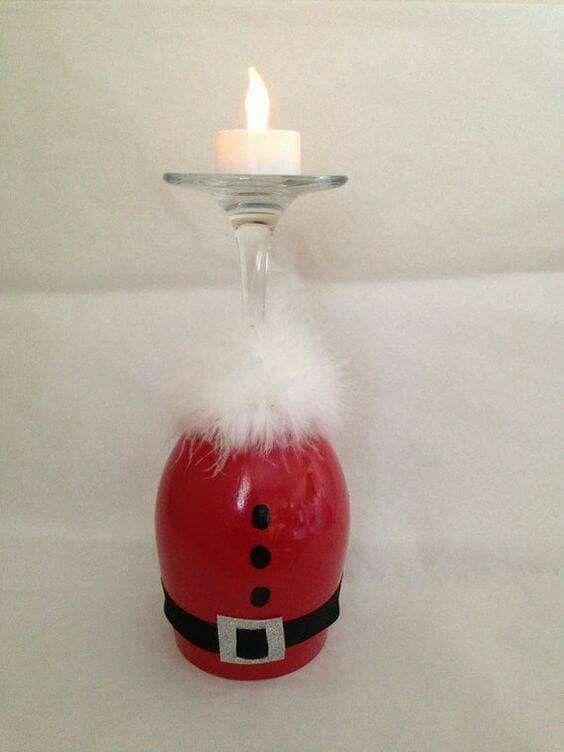 Wine Glass Santa