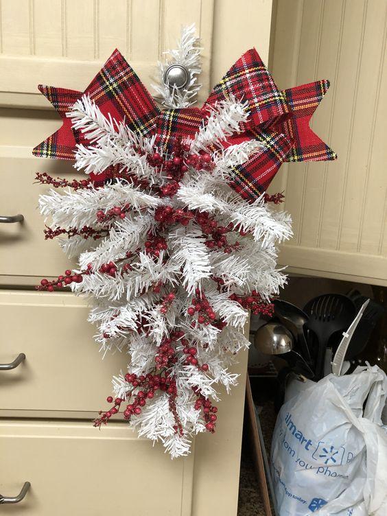 Dollar Tree Christmas Wreath - Door Swag