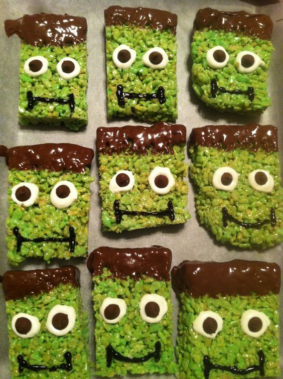 Frankenstein Rice Krispies