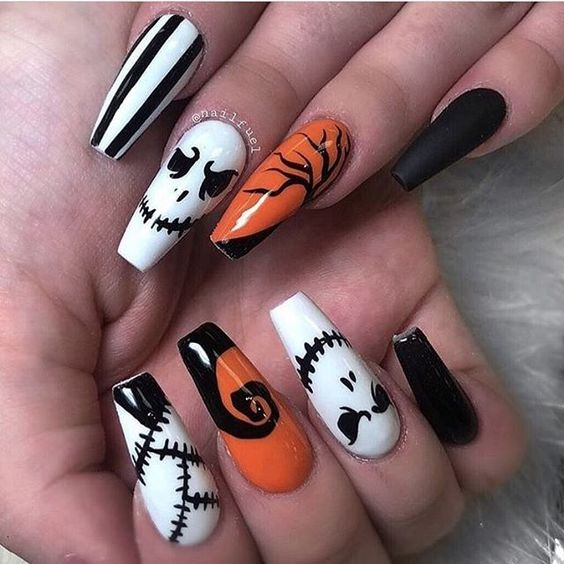 Awesome Halloween Nail Art Designs Step by Step - Party Wowzy