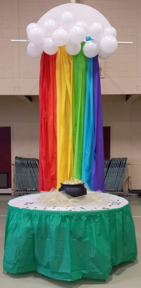 Rainbow made with Plastic Tablecloths