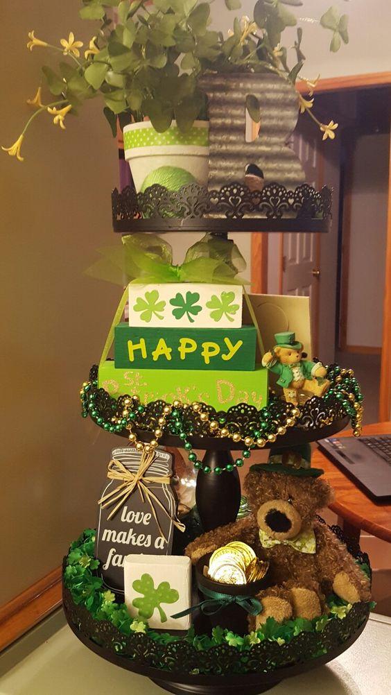 St Patricks Day Tiered Tray