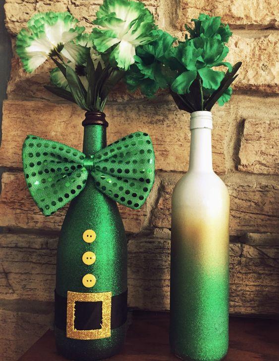St Patricks Day Wine Bottles