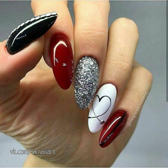 valentines nail art #valentinesnails #valentines #nails