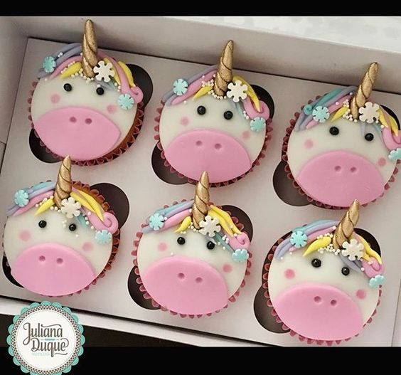 Cute Unicorn Cupcakes