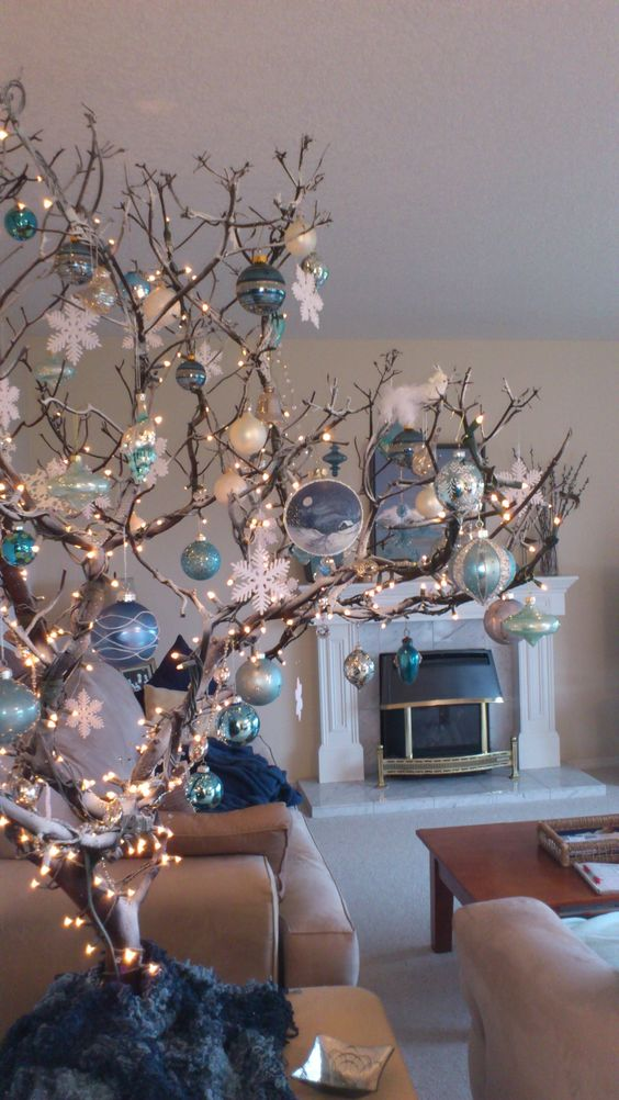 Branches with Ornaments