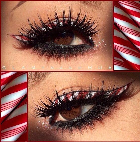 Candy Cane Eyeliner