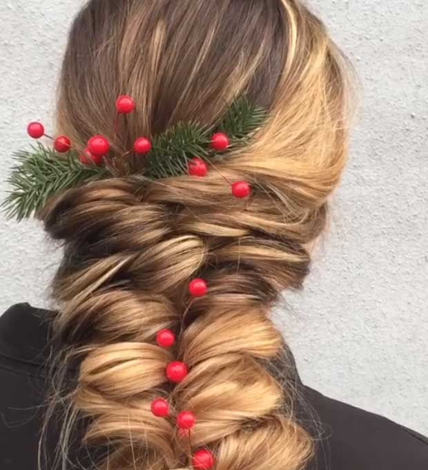Festive Berry Braid