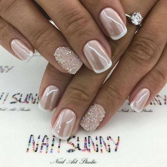 Glam French Manicure