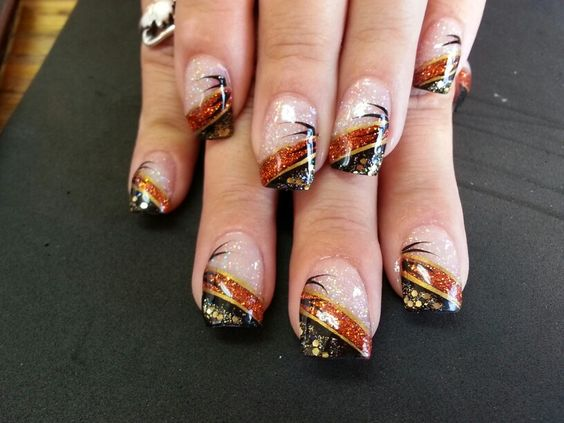 Easy DIY Fall Nail Designs for Short Nails - Party Wowzy