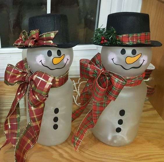 Pickle Jar Snowmen