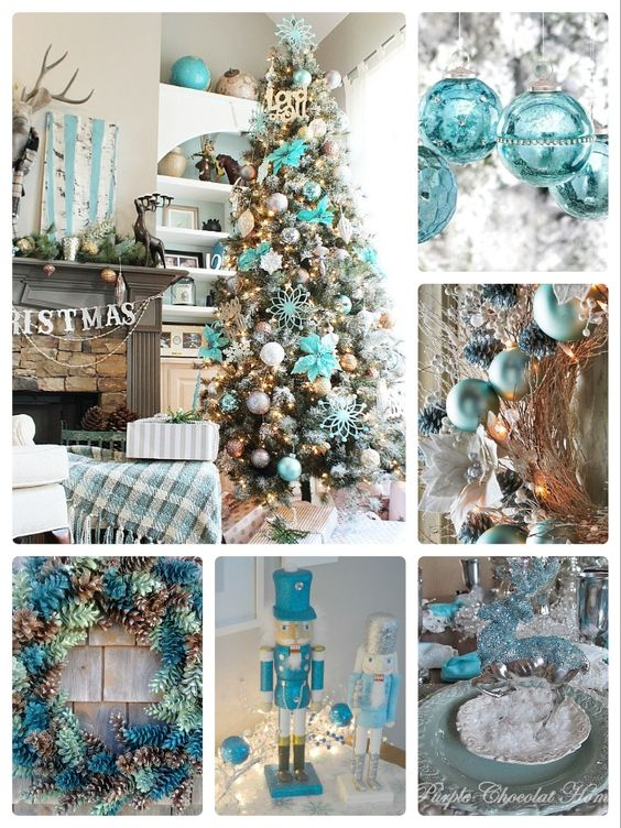 Teal Christmas Decor Ideas