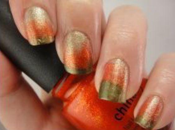 Autumn Ombré Nails