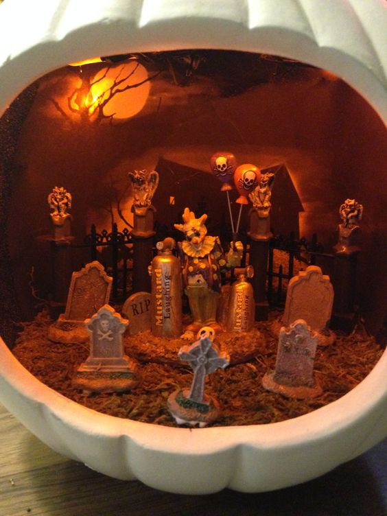 Creepy Clown Diorama