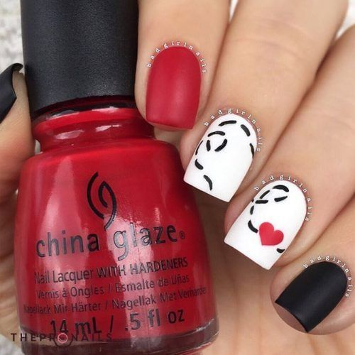 Flying Heart Nails