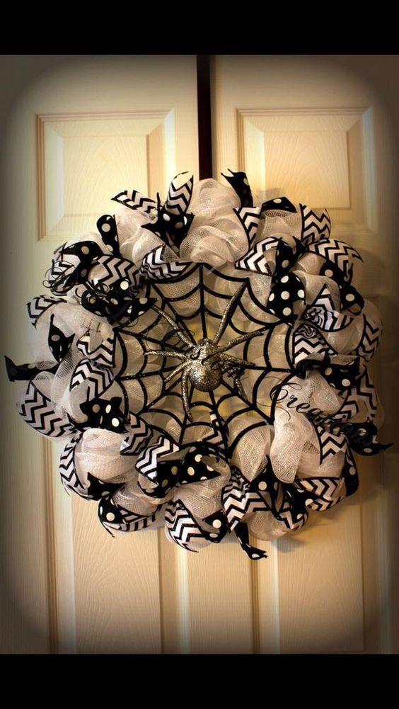Halloween Wreaths for Front Door