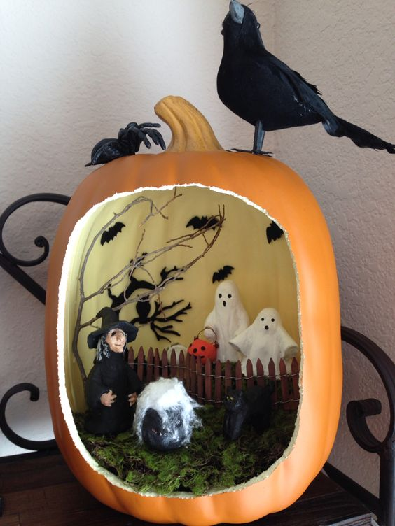 Surprise Pumpkin Diorama