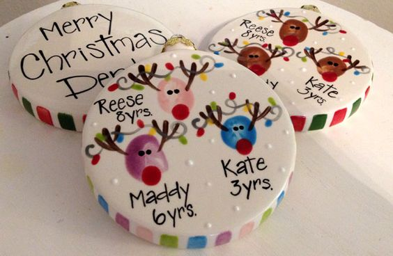 Thumbprint Deer Ornaments