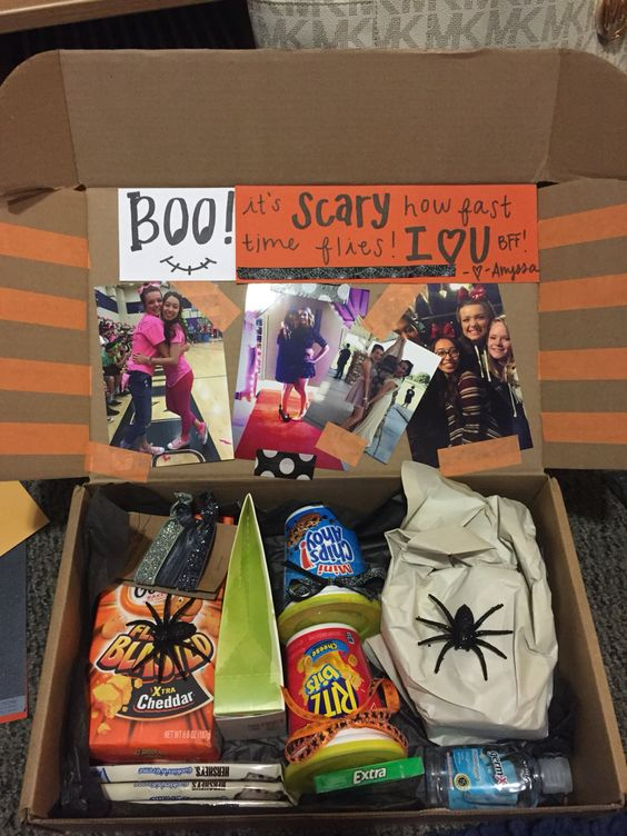 Halloween bff college care package