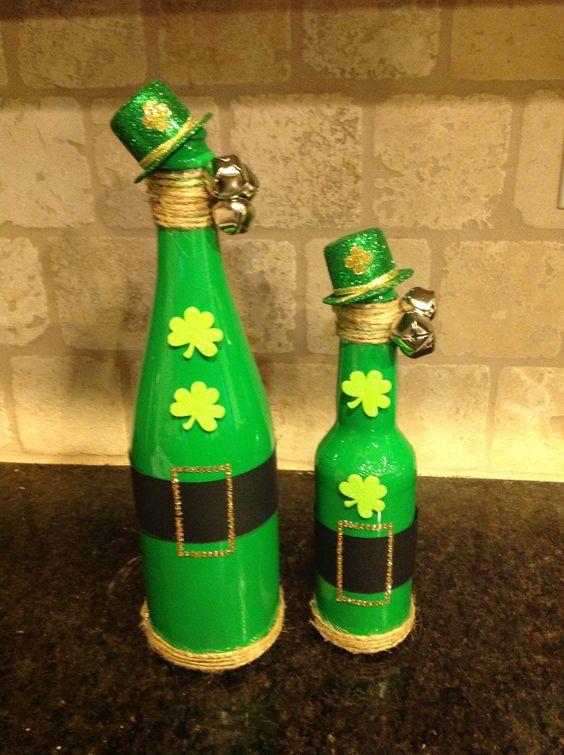 Lucky Green Bottles