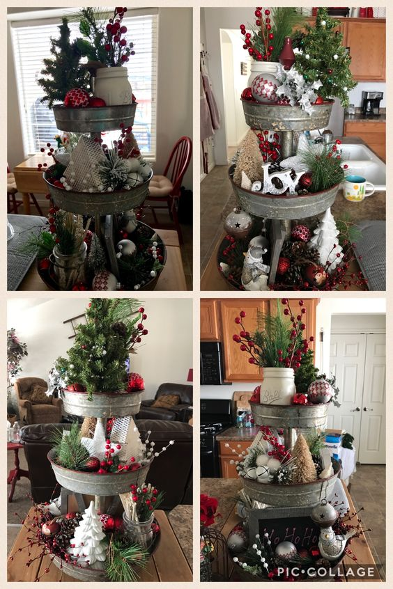 Winter Greenery 3 Tier