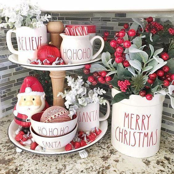 Christmas Tiered Tray Ideas