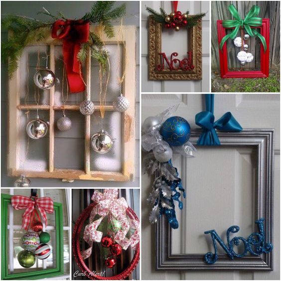 Christmas decorations with photo frames