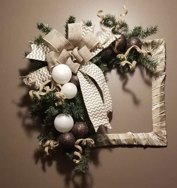 Wrapped Frame Wreath