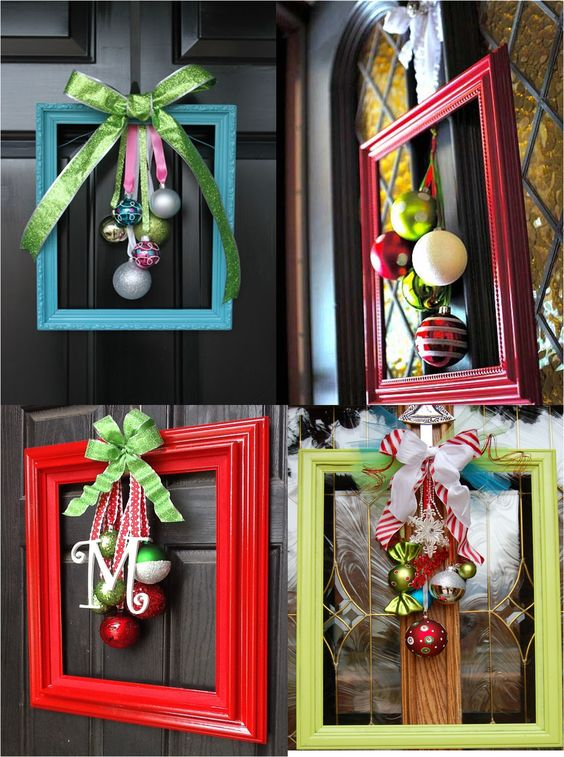 door decorations made from picture frames