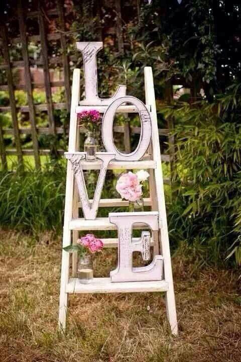Valentines Ladder Decor - Love
