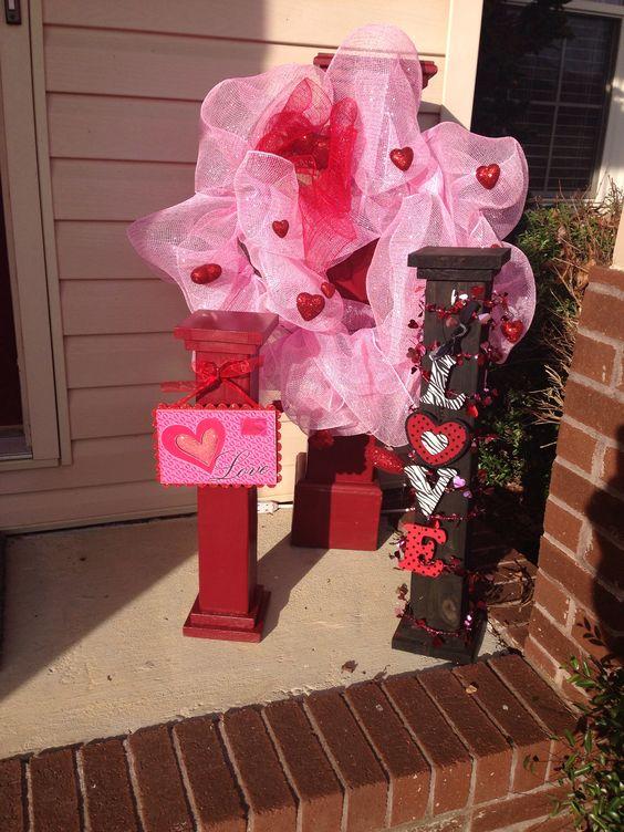 Valentines Porch Decor