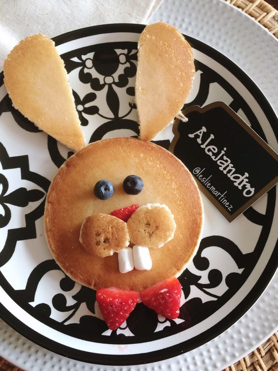 Easter Bunny Pancakes for Kids
