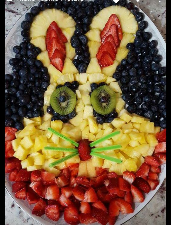 How to Make an Easter Fruit Tray