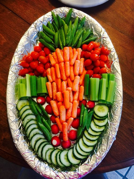 How to Make an Easter Veggie Tray