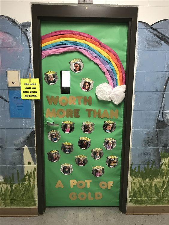 St Patricks Day Classroom Door Ideas