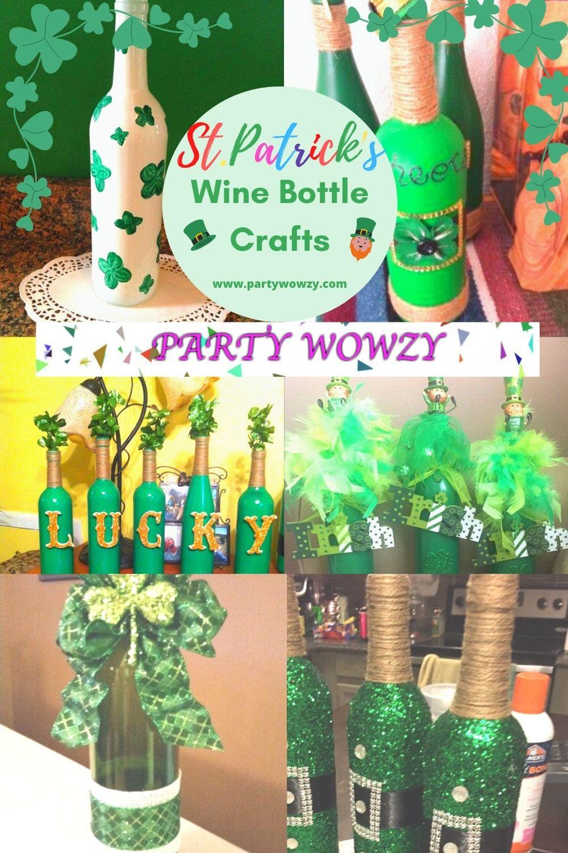 St Patricks Day Wine Bottle Crafts